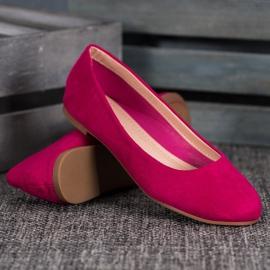 Best Shoes Zamszowe Baleriny fioletowe 4