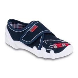 Befado obuwie dziecięce 273X051 czerwone granatowe 1
