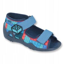 Befado obuwie dziecięce 250P094 niebieskie szare wielokolorowe 1