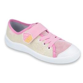 Befado obuwie dziecięce 251Y141 różowe wielokolorowe 1