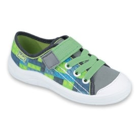 Befado obuwie dziecięce 251Y148 szare wielokolorowe zielone 1
