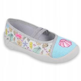 Befado obuwie dziecięce 116Y271 niebieskie szare wielokolorowe 1