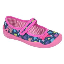 Befado obuwie dziecięce 114X396 granatowe różowe wielokolorowe 1