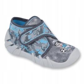 Befado obuwie dziecięce 523P014 niebieskie szare wielokolorowe 1