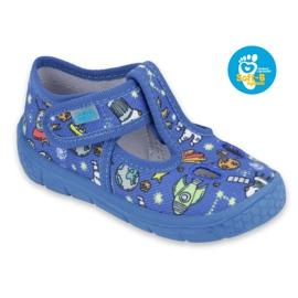 Befado  obuwie dziecięce  533P003 niebieskie wielokolorowe 1