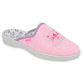 Befado kolorowe obuwie dziecięce 707Y409 różowe 1
