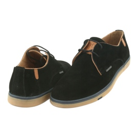 Półbuty męskie Badura 3763 czarne brązowe 4