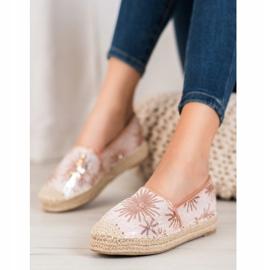Best Shoes Cekinowe Espadryle różowe 4