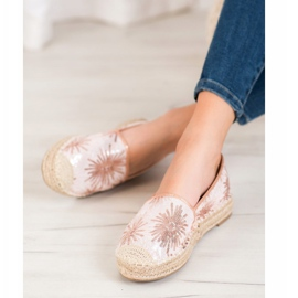 Best Shoes Cekinowe Espadryle różowe 5