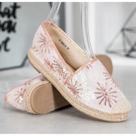 Best Shoes Cekinowe Espadryle różowe 1