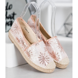 Best Shoes Cekinowe Espadryle różowe 2