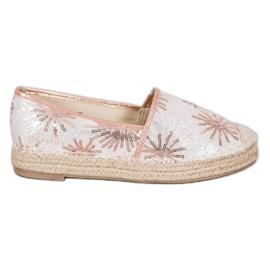 Best Shoes Cekinowe Espadryle różowe 3