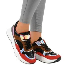 Czarne sneakersy sportowe trampki C9218 1