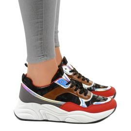 Czarne sneakersy sportowe trampki C9218 2