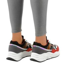 Czarne sneakersy sportowe trampki C9218 3