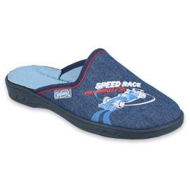 Befado kolorowe obuwie dziecięce 707Y403 czerwone granatowe niebieskie 1