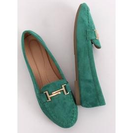 Mokasyny damskie zielone 99-13A Green 4