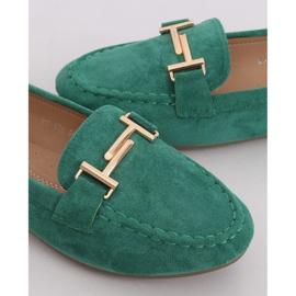 Mokasyny damskie zielone 99-13A Green 3