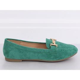 Mokasyny damskie zielone 99-13A Green 1