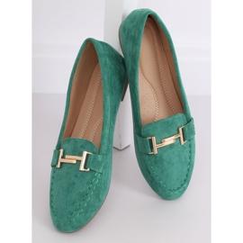 Mokasyny damskie zielone 99-13A Green 2