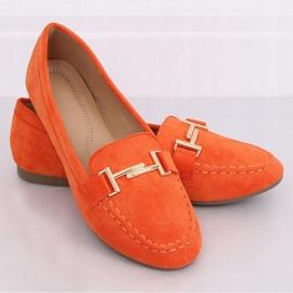 Mokasyny damskie pomarańczowe 99-13A Orange 3