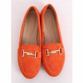 Mokasyny damskie pomarańczowe 99-13A Orange 4