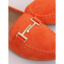 Mokasyny damskie pomarańczowe 99-13A Orange 1