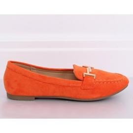 Mokasyny damskie pomarańczowe 99-13A Orange 2
