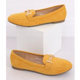 Mokasyny damskie miodowe 99-13A Yellow żółte 1
