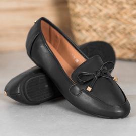 Clowse Eleganckie Czarne Baleriny 4