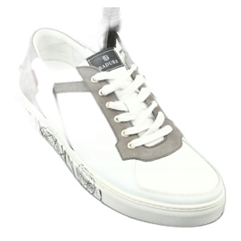 Buty sportowe Badura 3361 białe czarne szare 4