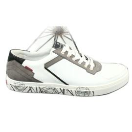 Buty sportowe Badura 3361 białe czarne szare 3