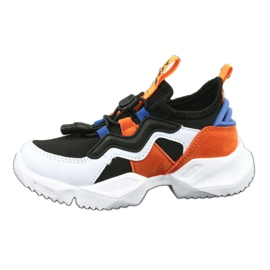 Bartek buty sportowe 78219 białe czarne niebieskie pomarańczowe 2