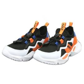 Bartek buty sportowe 78219 białe czarne niebieskie pomarańczowe 3