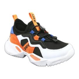 Bartek buty sportowe 78219 białe czarne niebieskie pomarańczowe 1