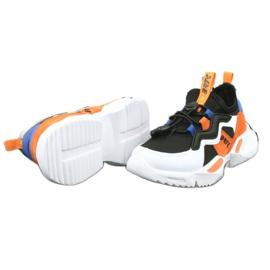 Bartek buty sportowe 78219 białe czarne niebieskie pomarańczowe 5