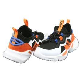 Bartek buty sportowe 78219 białe czarne niebieskie pomarańczowe 4