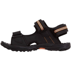 Sandały Kappa Symi K Footwear Jr 260685K 1144 czarne pomarańczowe 2