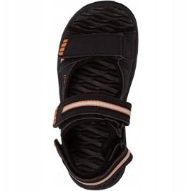 Sandały Kappa Symi T Footwear Jr 260685T 1144 czarne pomarańczowe 1
