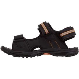 Sandały Kappa Symi T Footwear Jr 260685T 1144 czarne pomarańczowe 2
