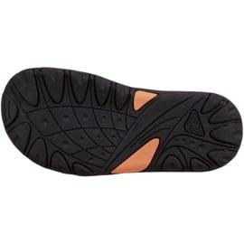 Sandały Kappa Symi T Footwear Jr 260685T 1144 czarne pomarańczowe 3
