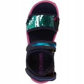 Sandały Kappa Seaqueen K Footwear Jr 260767K 6722 granatowe różowe 2