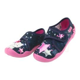 Befado obuwie dziecięce 122X003 granatowe różowe wielokolorowe 4