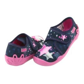 Befado obuwie dziecięce 122X003 granatowe różowe wielokolorowe 5