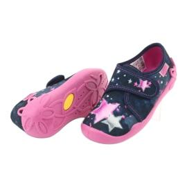 Befado obuwie dziecięce 122X003 granatowe różowe wielokolorowe 6