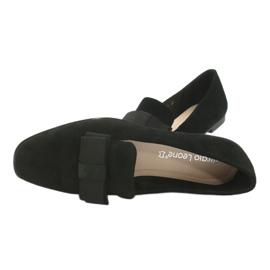 Lordsy balerinki z kokardą Sergio Leone 600 czarne 5