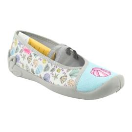 Befado obuwie dziecięce 116Y271 niebieskie szare wielokolorowe 2