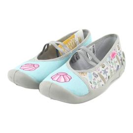 Befado obuwie dziecięce 116Y271 niebieskie szare wielokolorowe 4