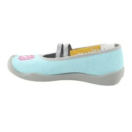 Befado obuwie dziecięce 116Y271 niebieskie szare wielokolorowe 3