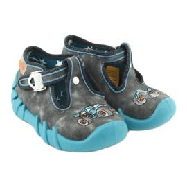 Befado obuwie dziecięce 110P314 szare niebieskie 5